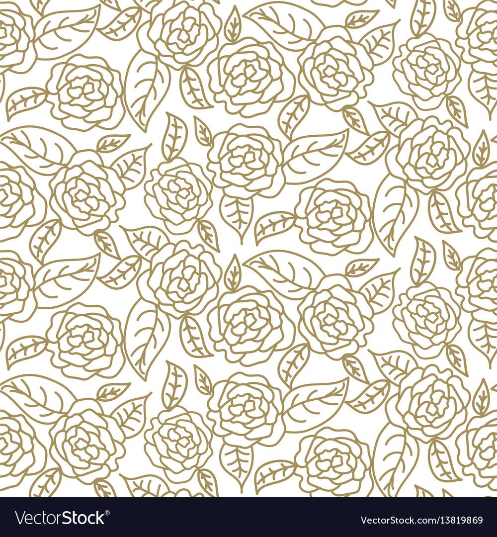 Floral rose wedding seamless pattern