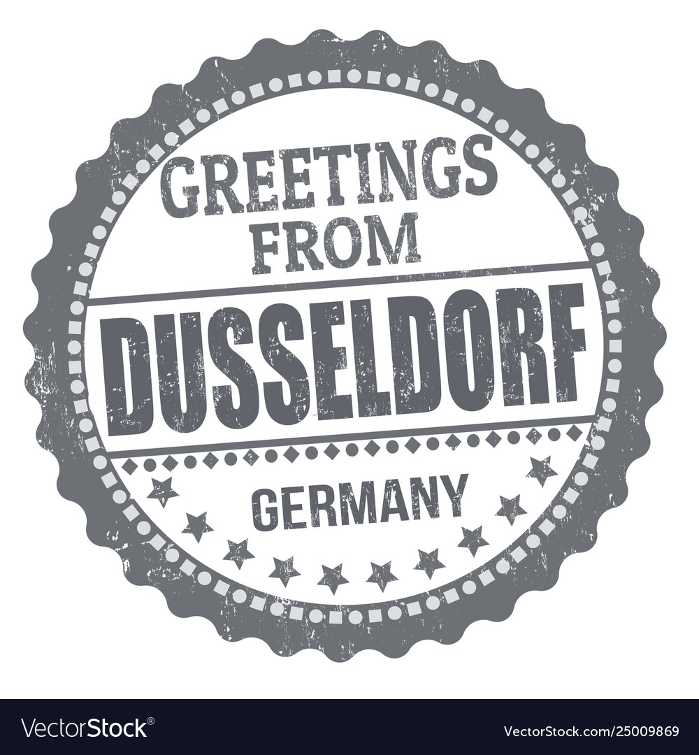 Greetings from dusseldorf sign or stamp