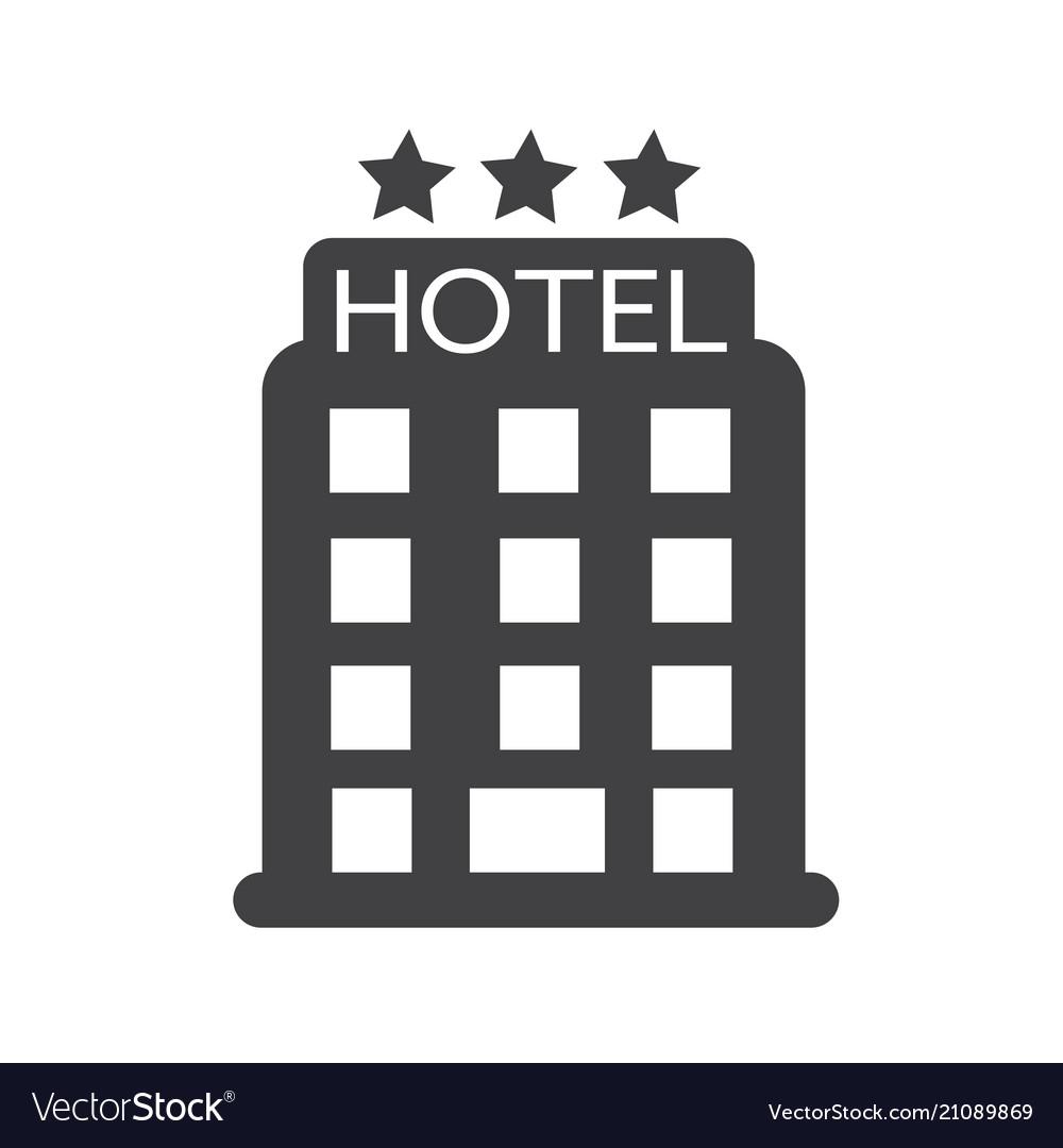 Hotel Icon Royalty Free Vector Image Vectorstock