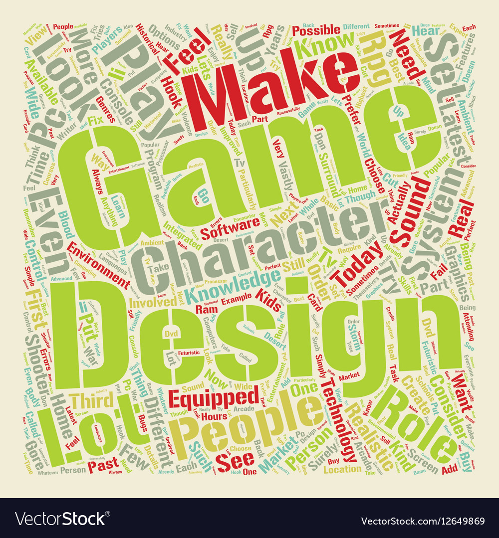 How to design a game system text background