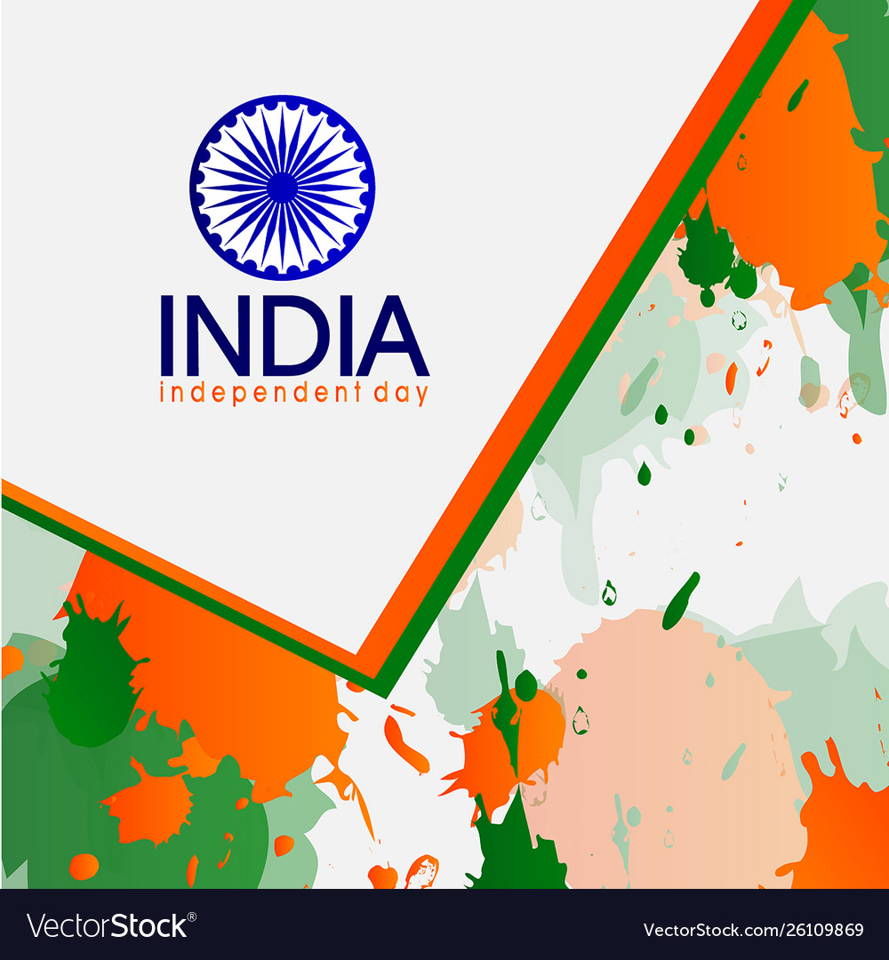 Independent country baground day india vector image