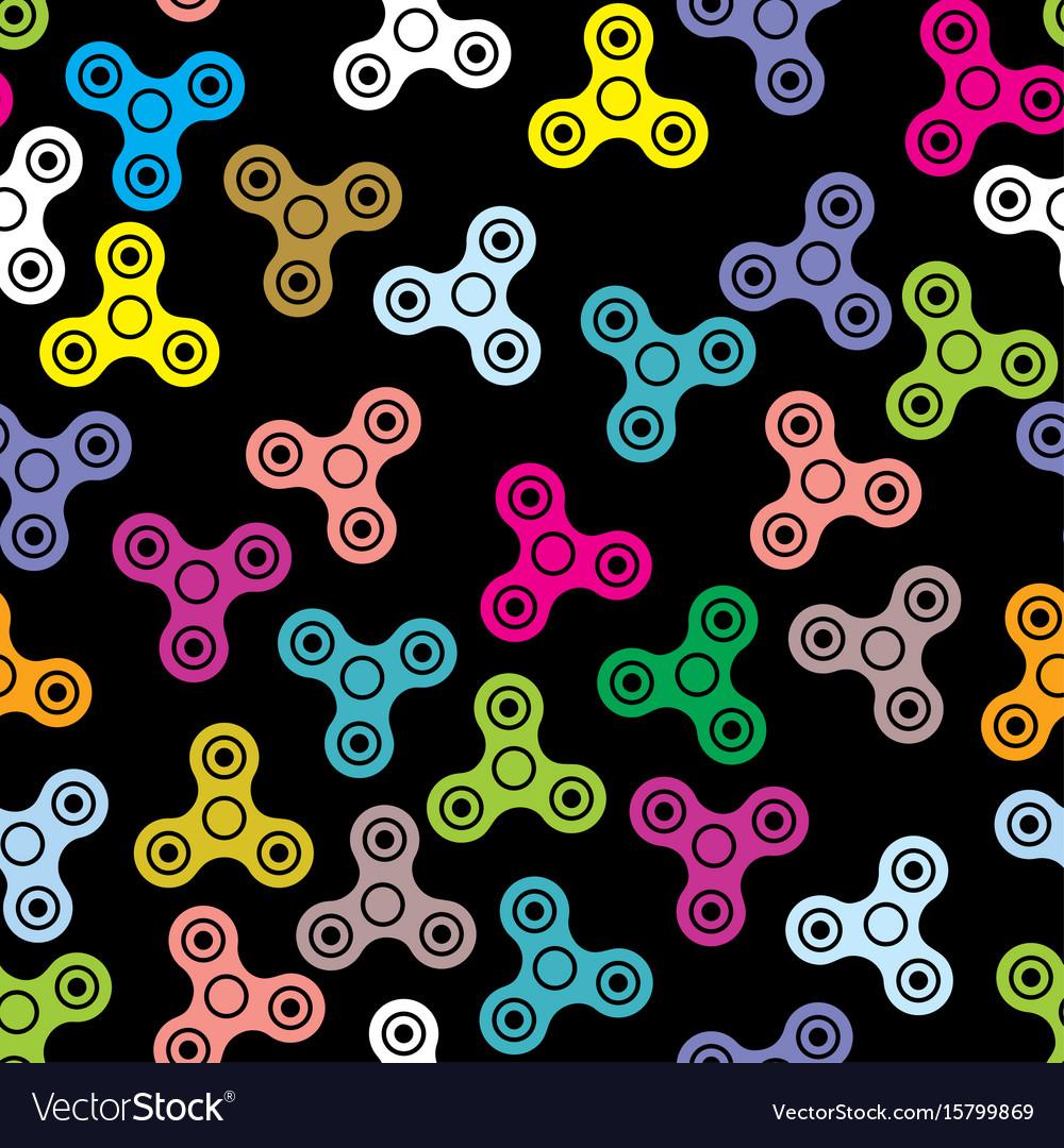 Pattern hand spinner fidget toy