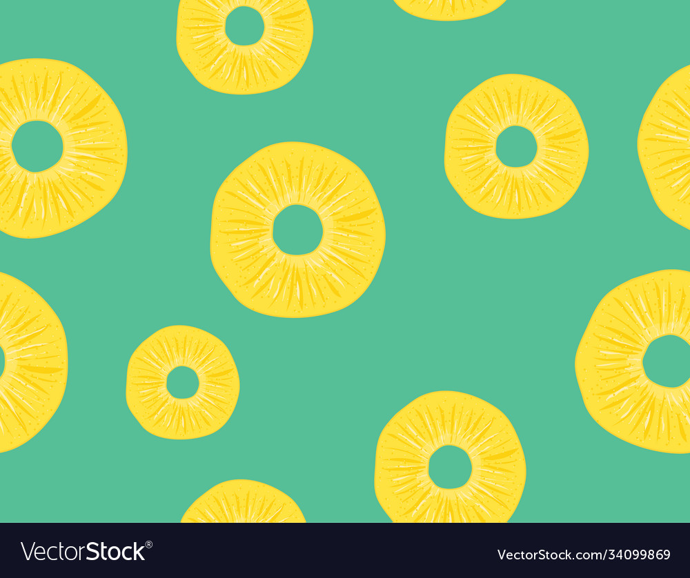 Pineapple seamless pattern slice