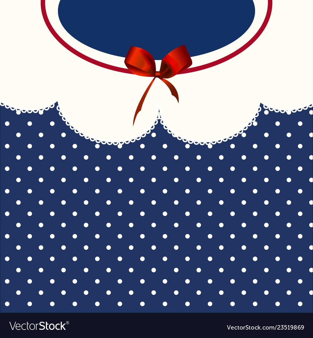 Vintage blue polka-dot dress printable backround