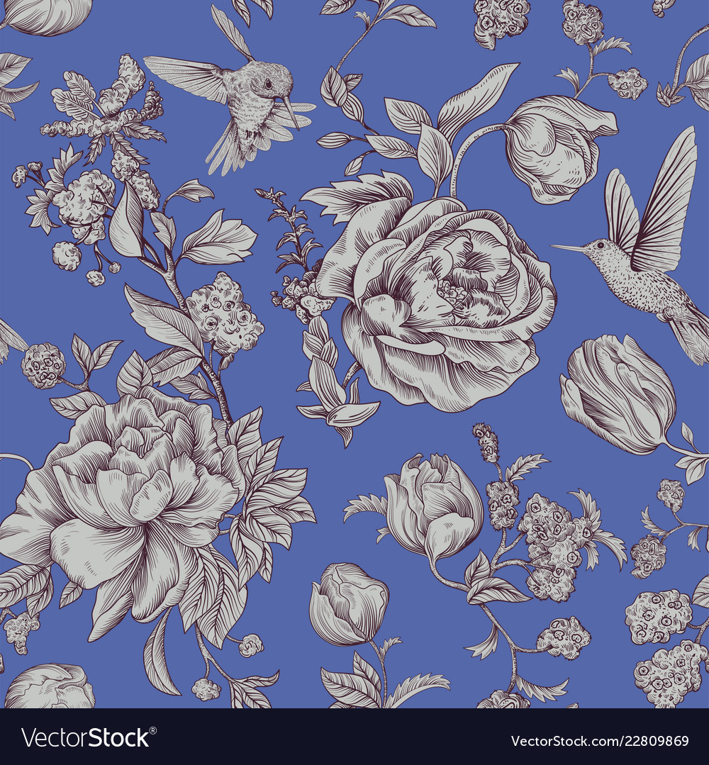 Vintage Pattern With Roses And Peonies Royalty Free Vector