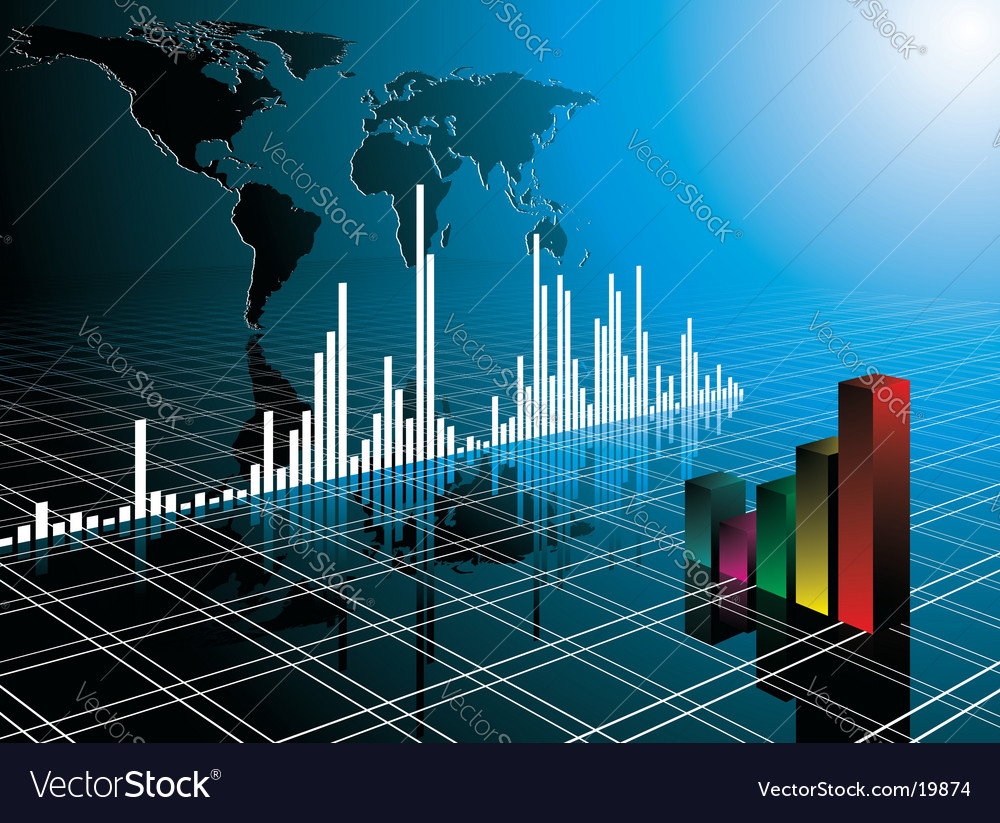 Business illustration vector image