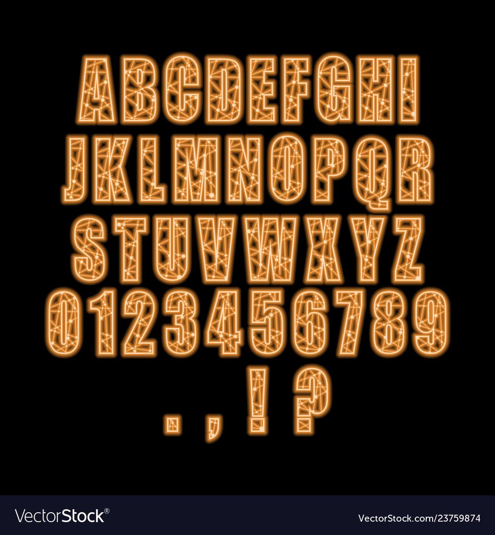 Decorative alphabet font