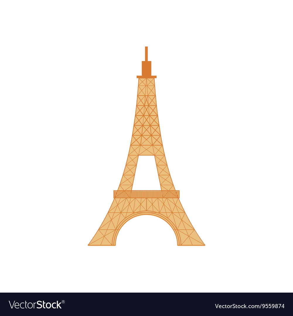 Eiffel Tower Icon In Cartoon Style Royalty Free Vector Image