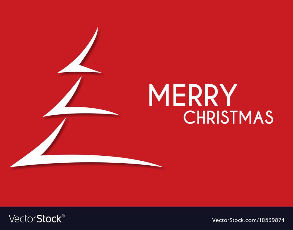 Christmas Arrow.Red Abstract Merry Christmas Tree Arrow