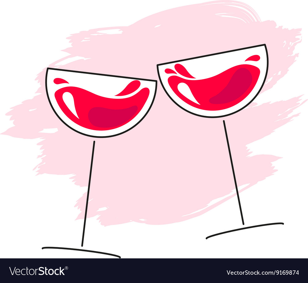 Red wine glass grande vector image