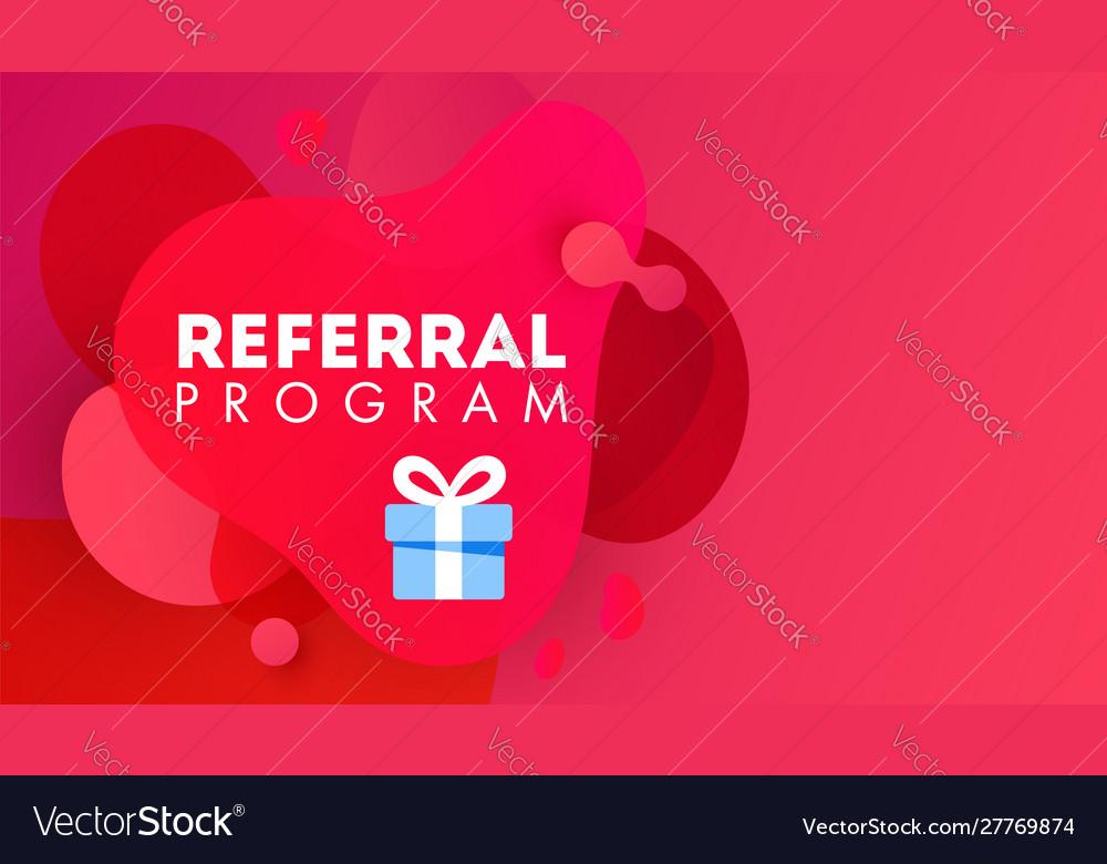 Referal design promotion gradient shapes