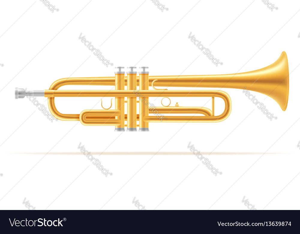 Trumpet wind musical instruments stock