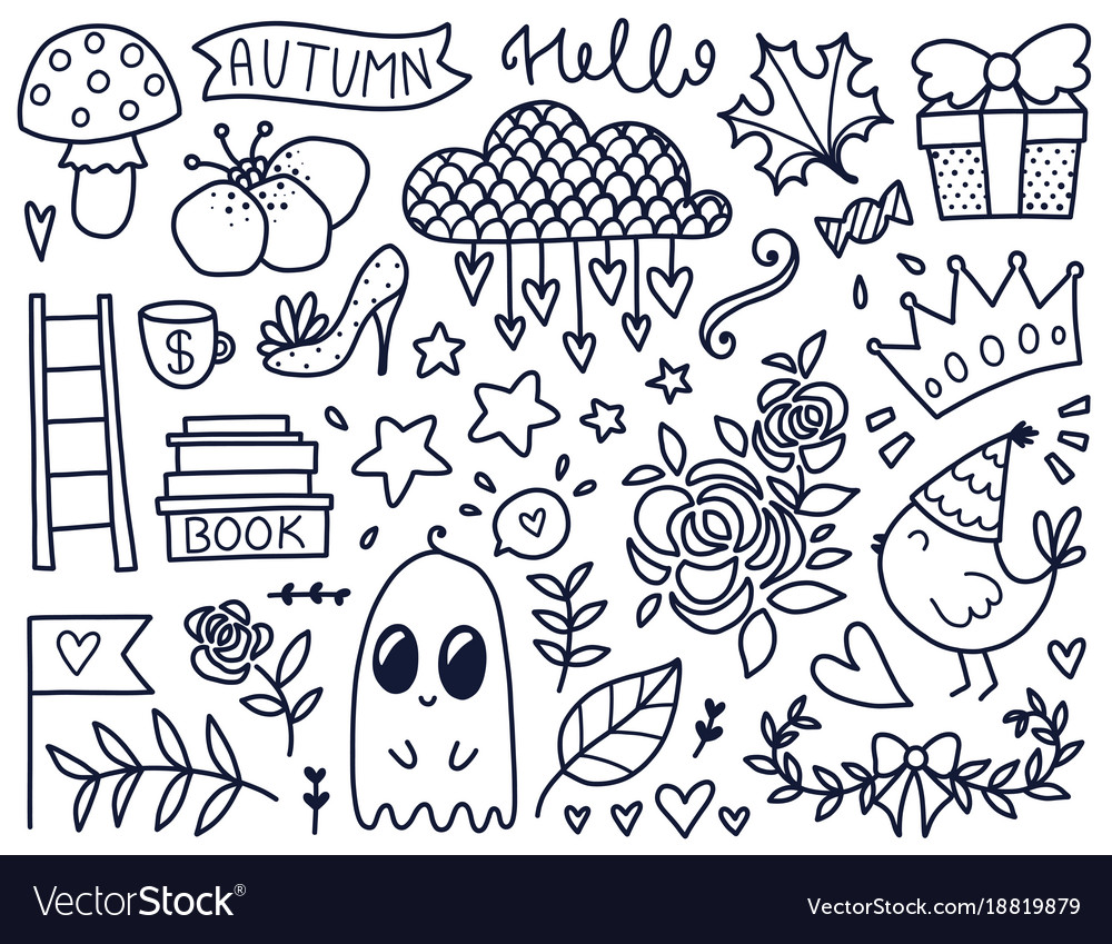 Black doodles
