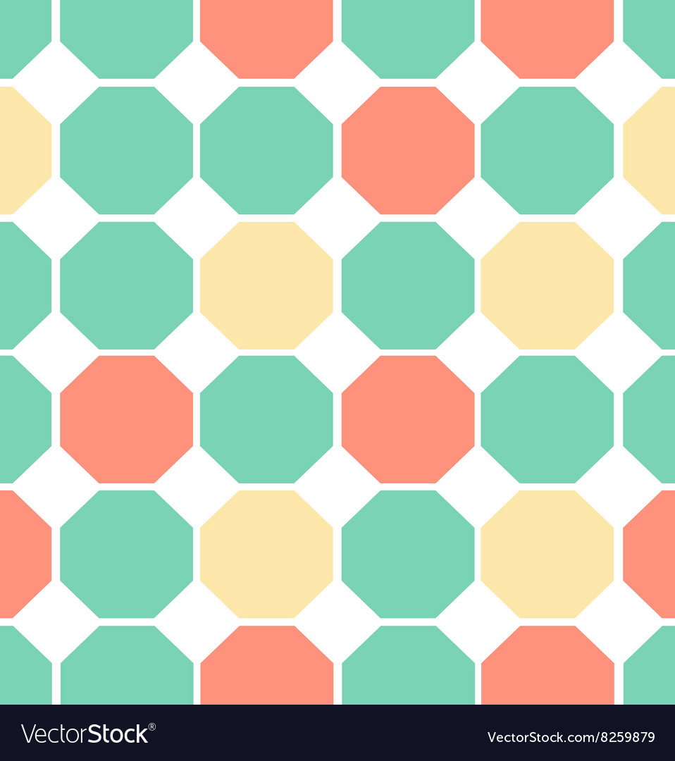 Colored polygon seamless pattern