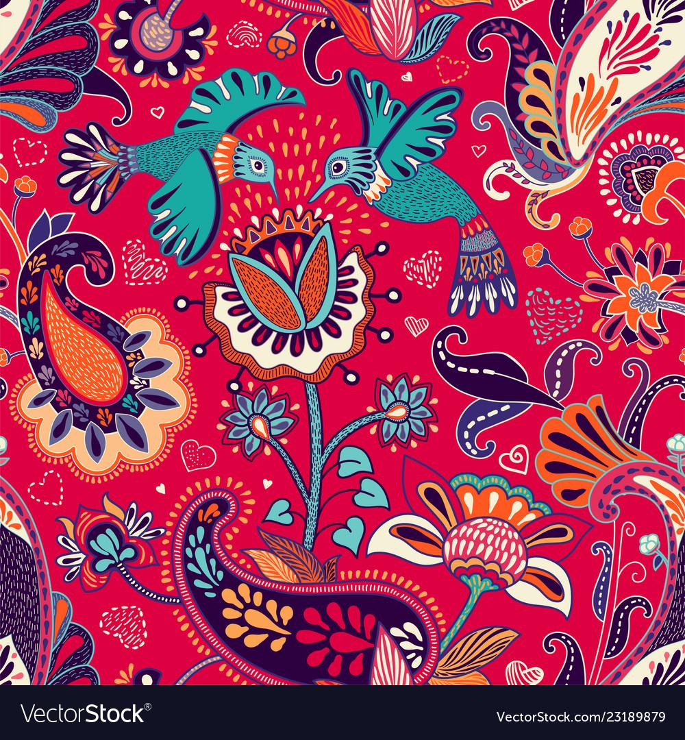 Seamless pattern decorative indian style