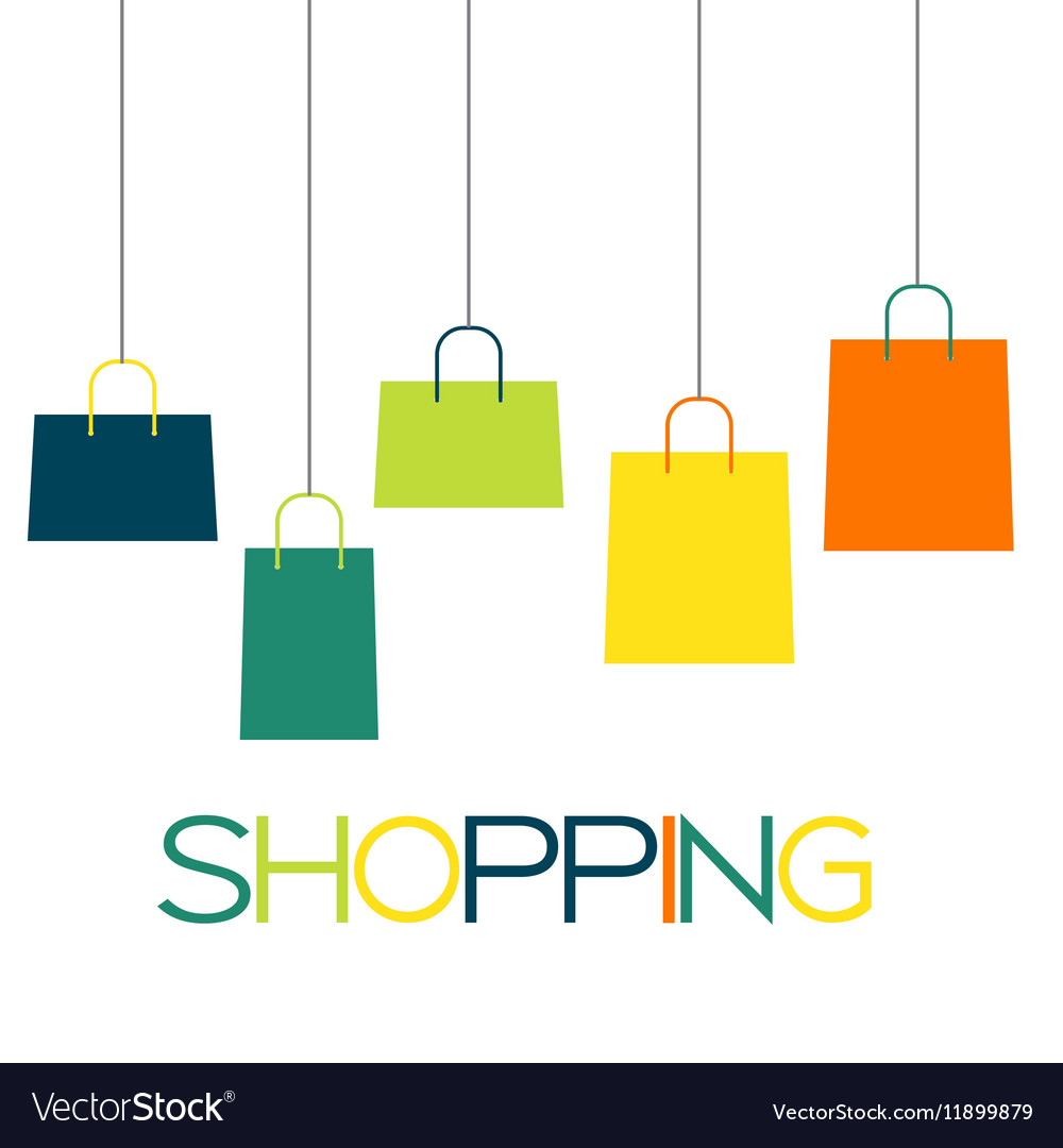 shopping bag design background royalty free vector image