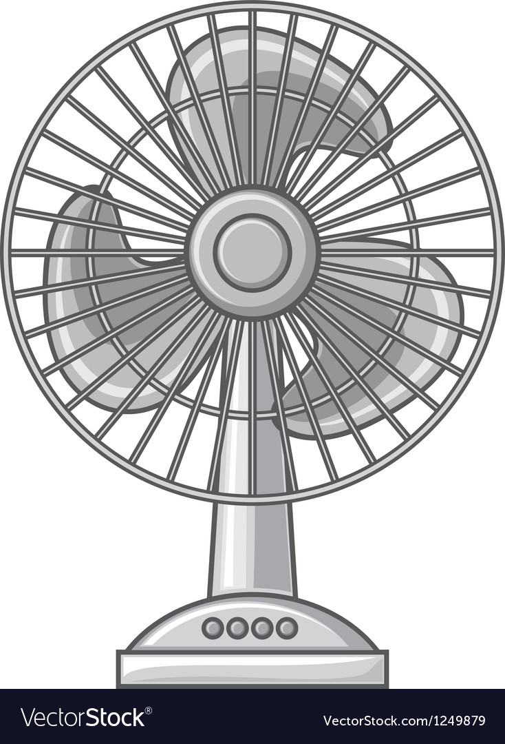 Table fan vector image