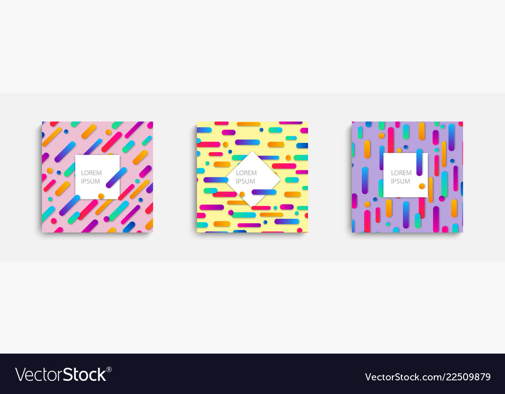 Templates covers with geometric pattern with