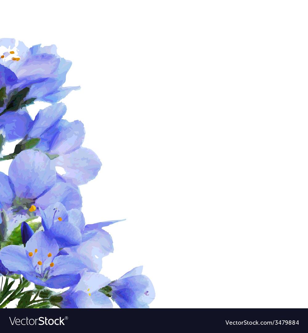Blue Flowers Border vector image