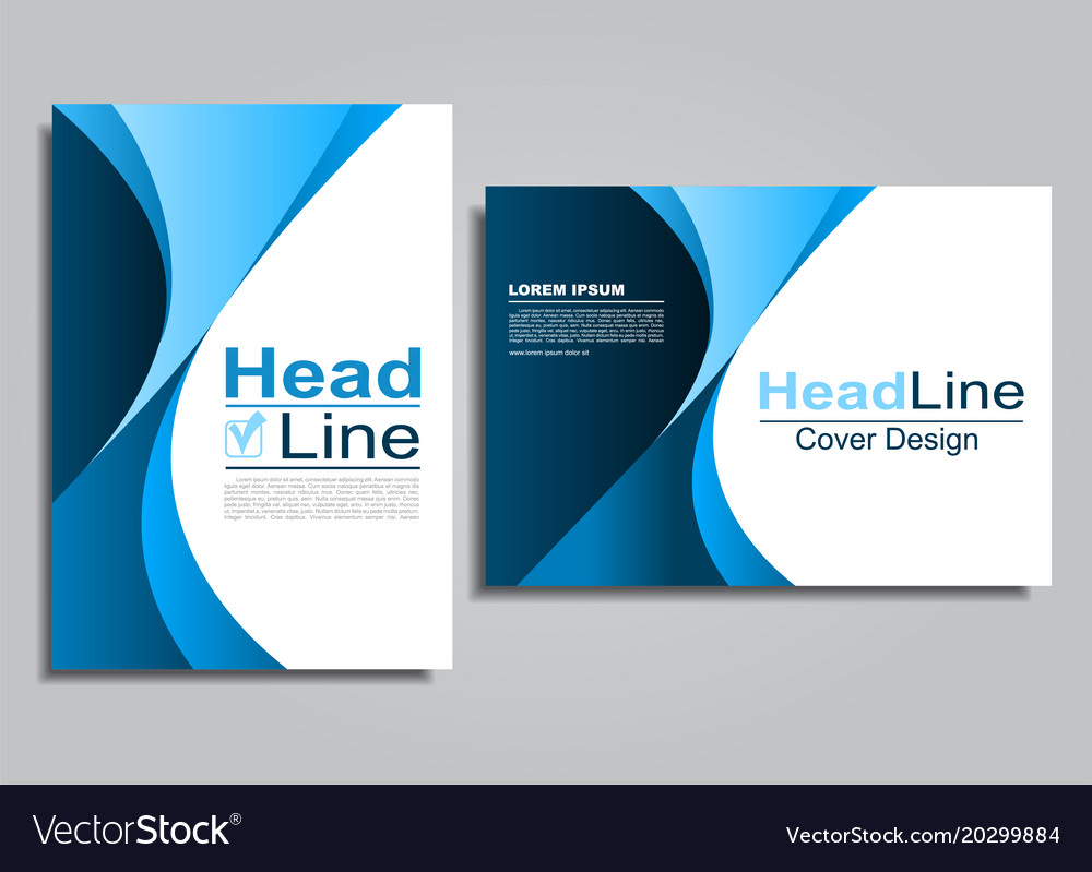 Book album brochure flyer cover design template vector image