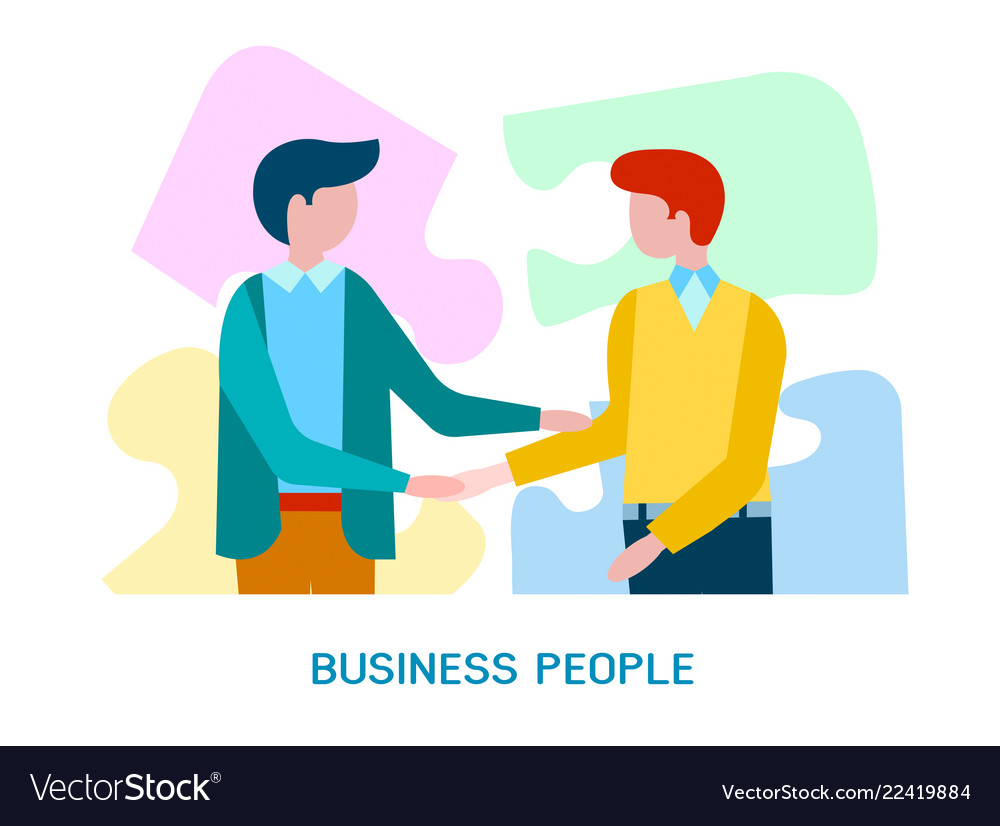 Concept business people come to business