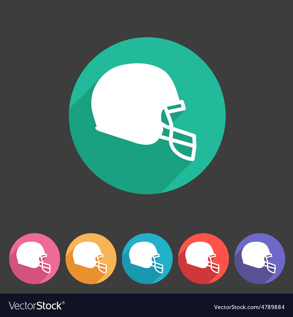 Football helmet flat icon sign symbol logo label