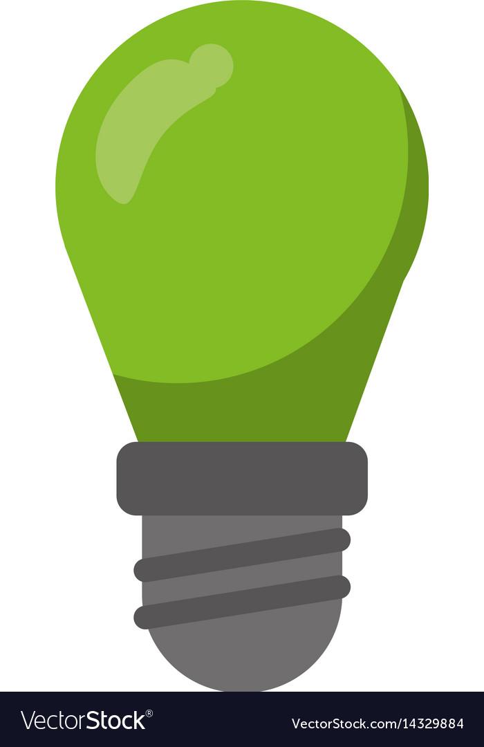 Green bulb lamp light environment