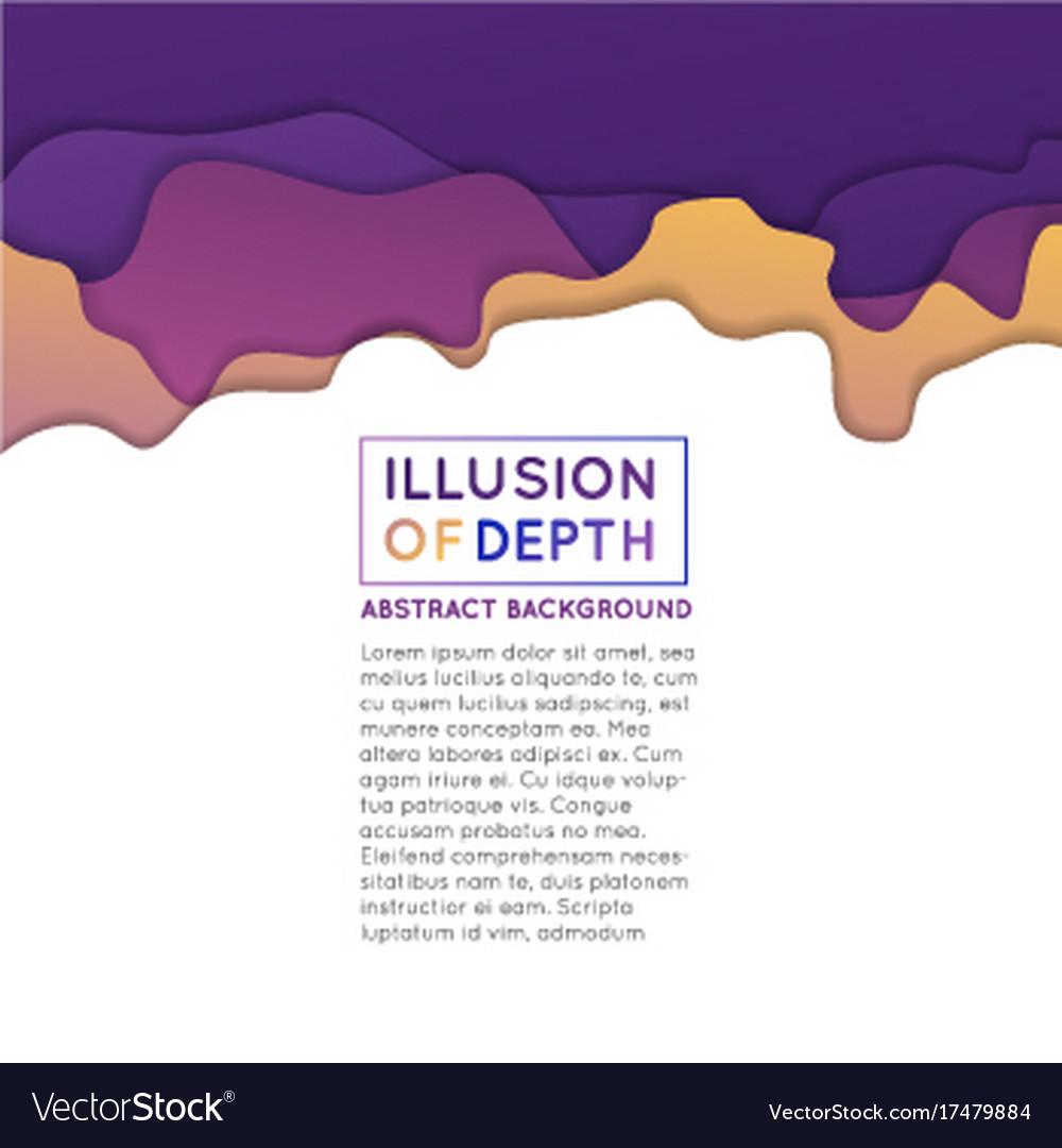 Ilusion of depth wavy pattern background