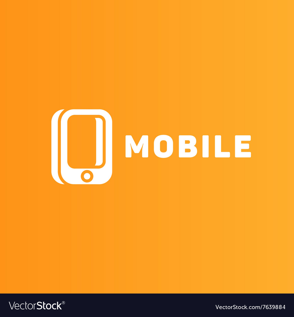 Mobile phone of the trend in logo vector image