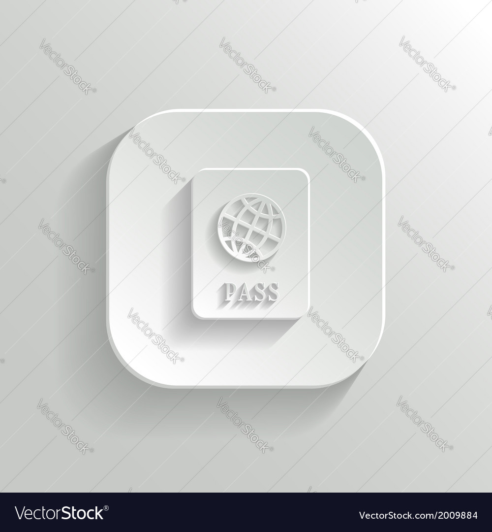 Passport icon - white app button