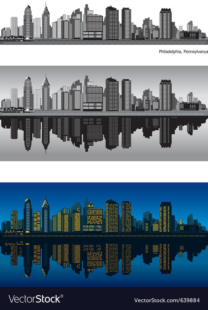 Philadelphia skyline vector image