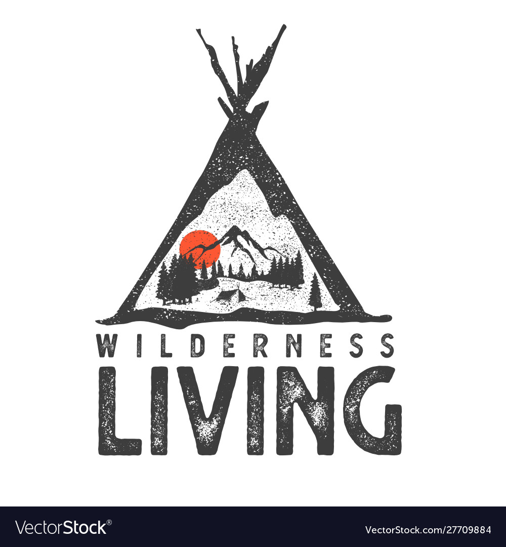 Wilderness hand drawn with image