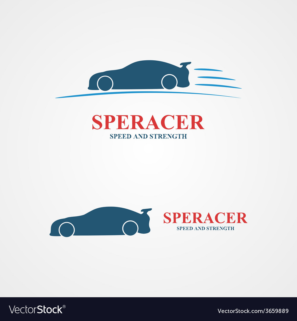 Abstract set of sport car design