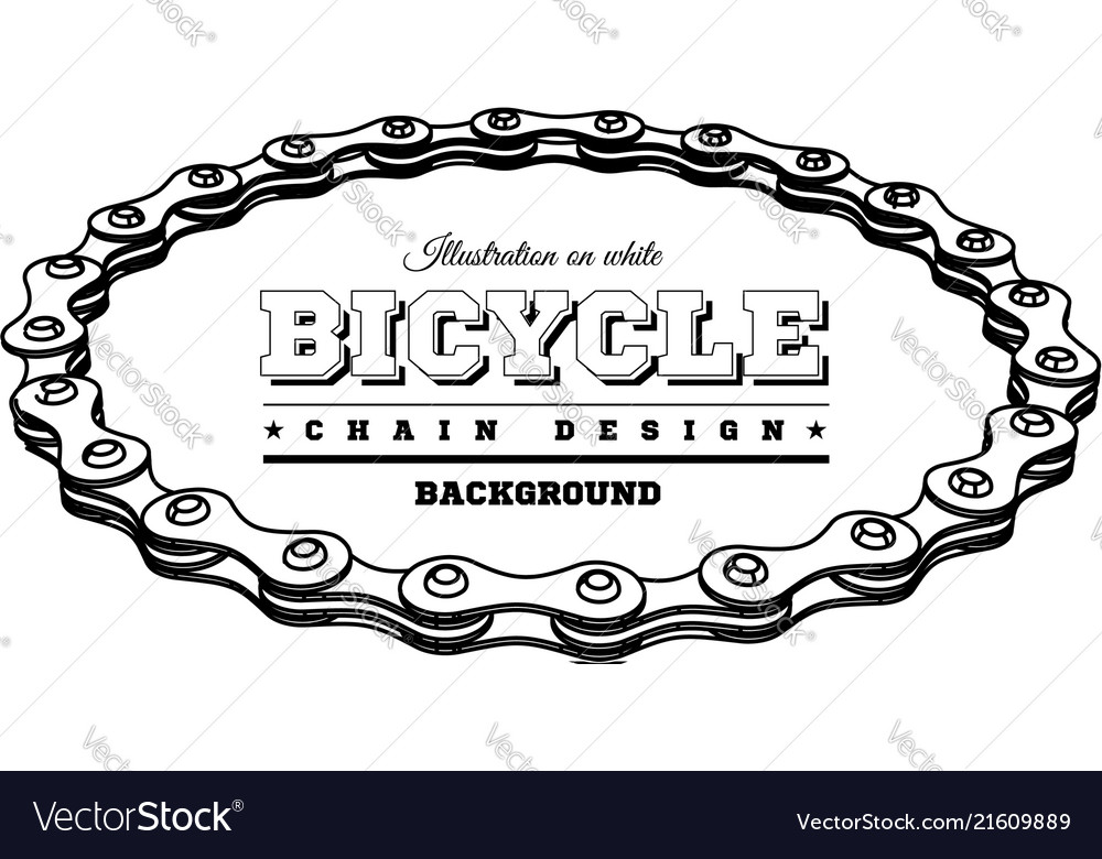 Bicycle chain in the form of a circle 3d design