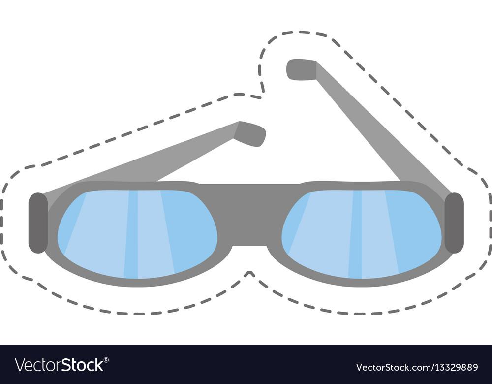 Cartoon glasses eye protect modern icon vector image
