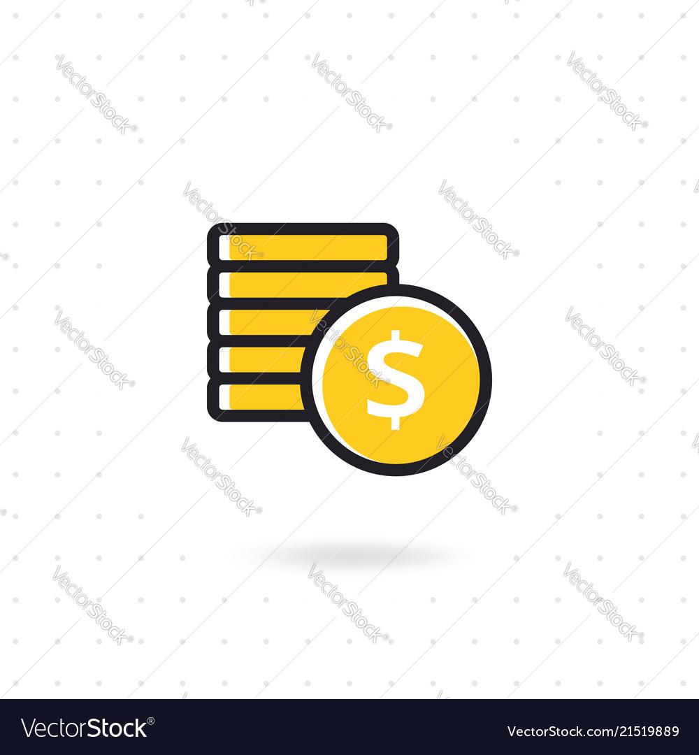 Flat money icon