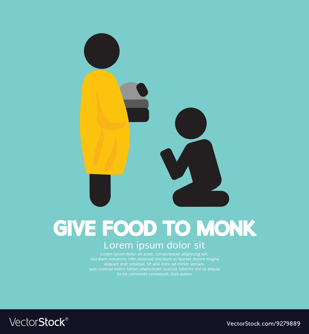 Give Alms To Monk Symbol