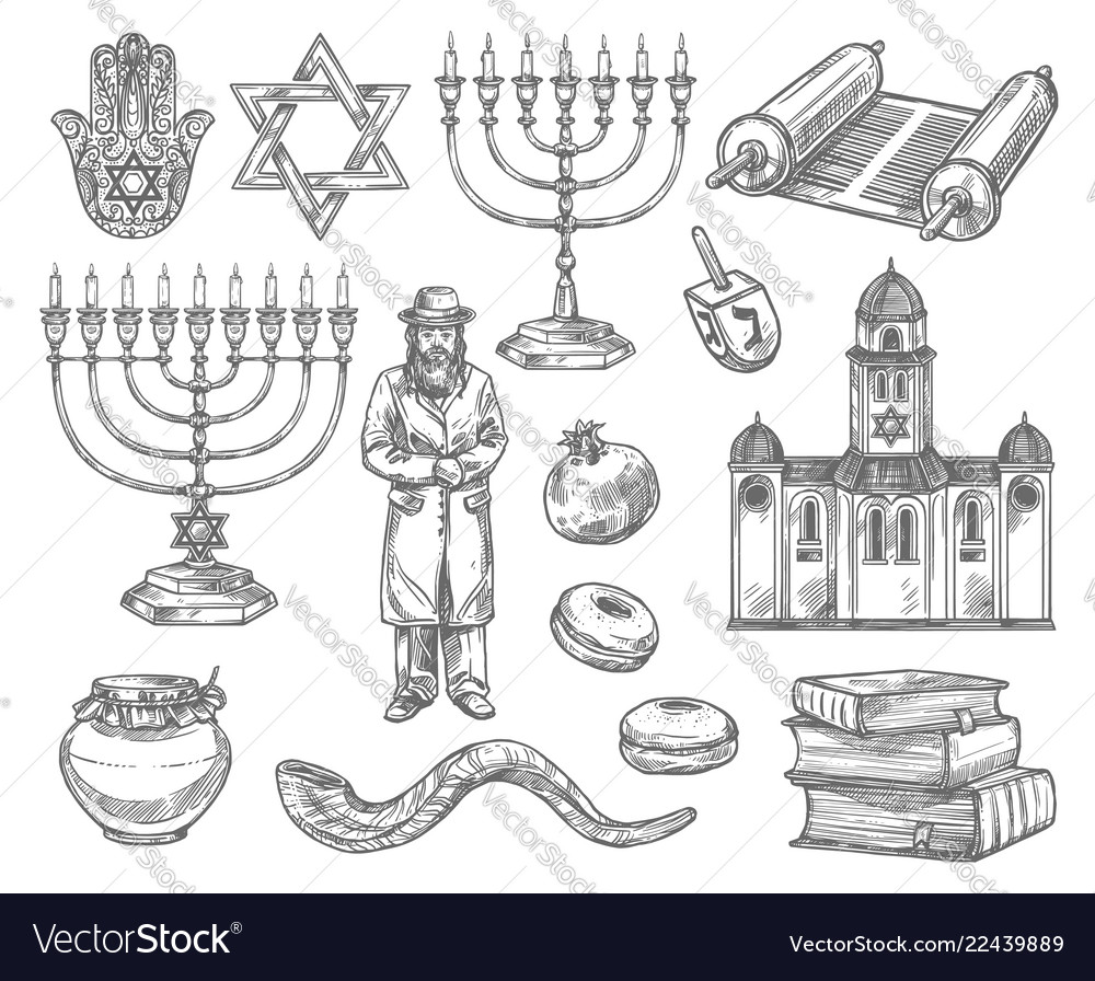 Judaism religion symbols jewish objects