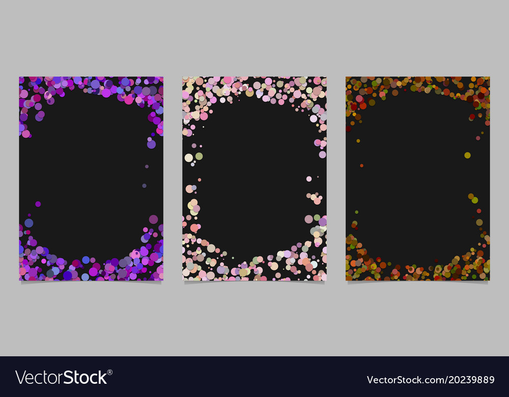 Random dot background round brochure border