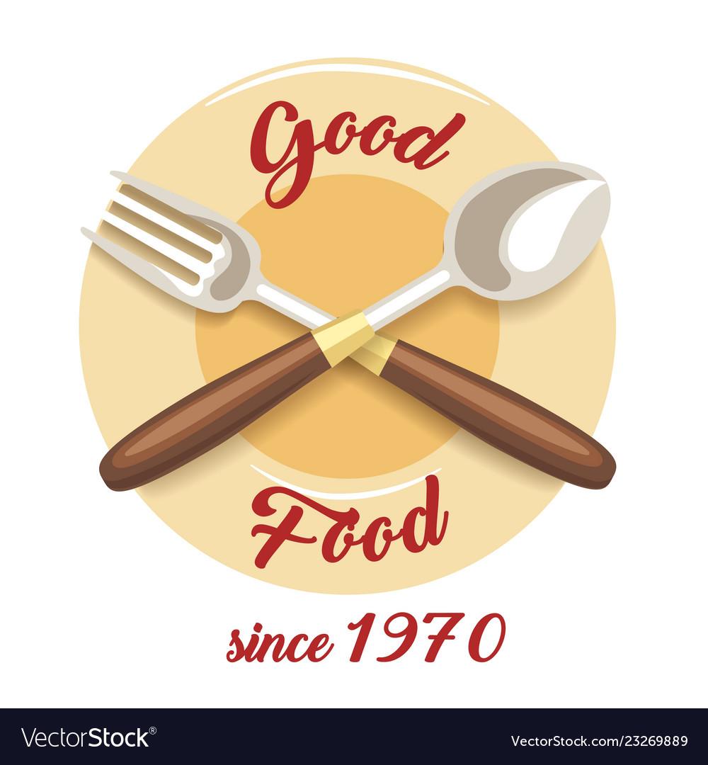 Rgood food restaurant emblem