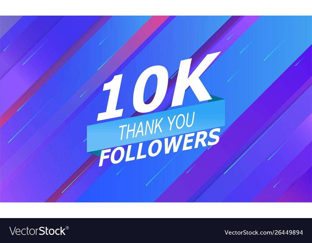 10k followers banner social networks