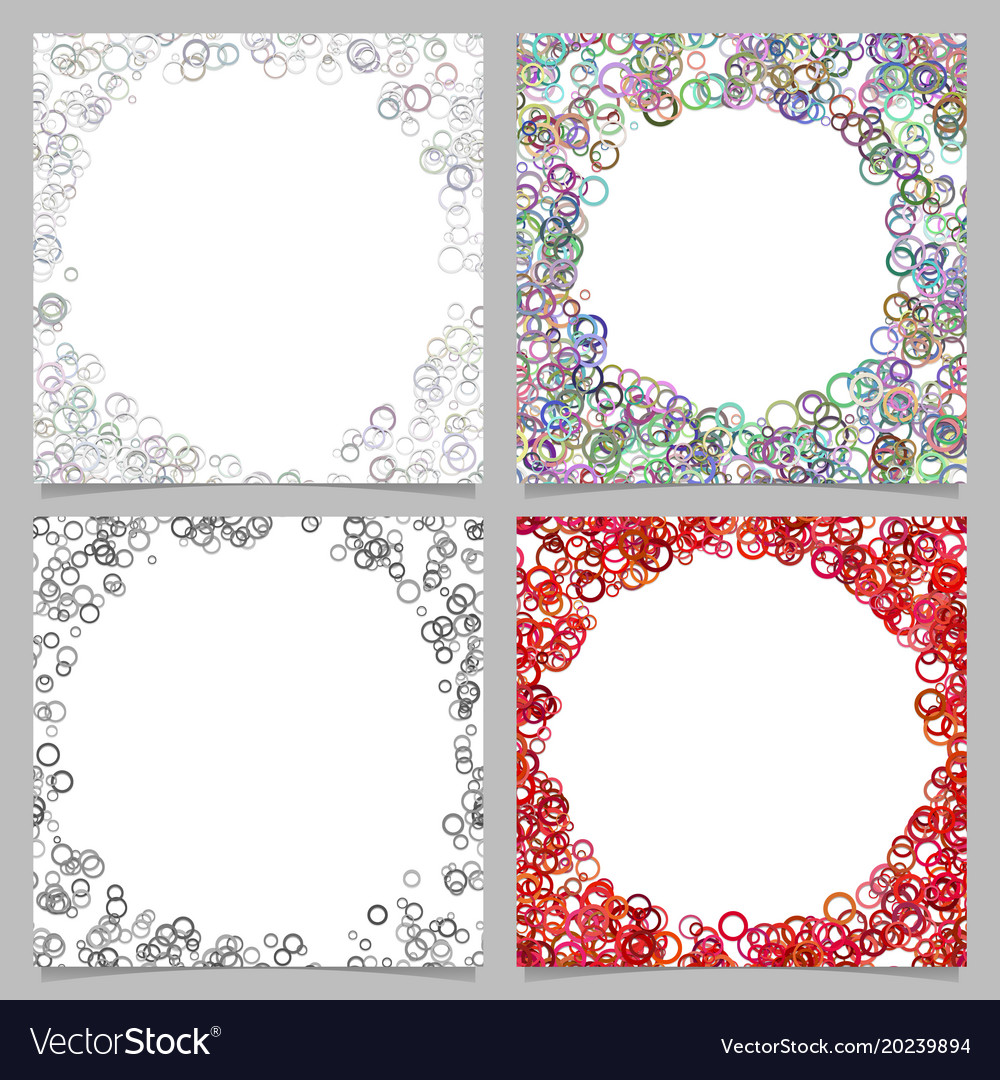 Abstract round border background set with circles