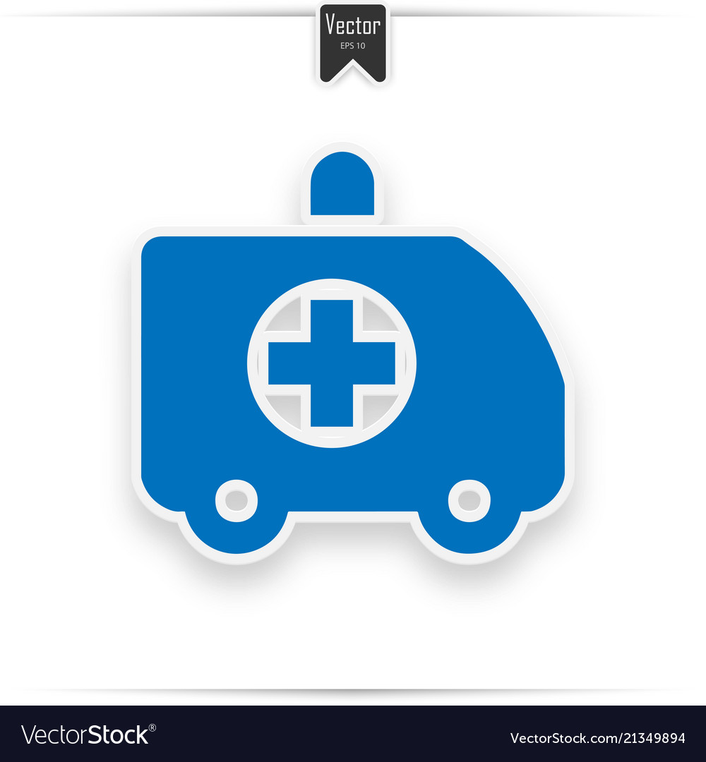 Ambulance car modern flat icon