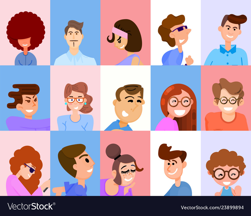 Avatars for social networks and applications flat