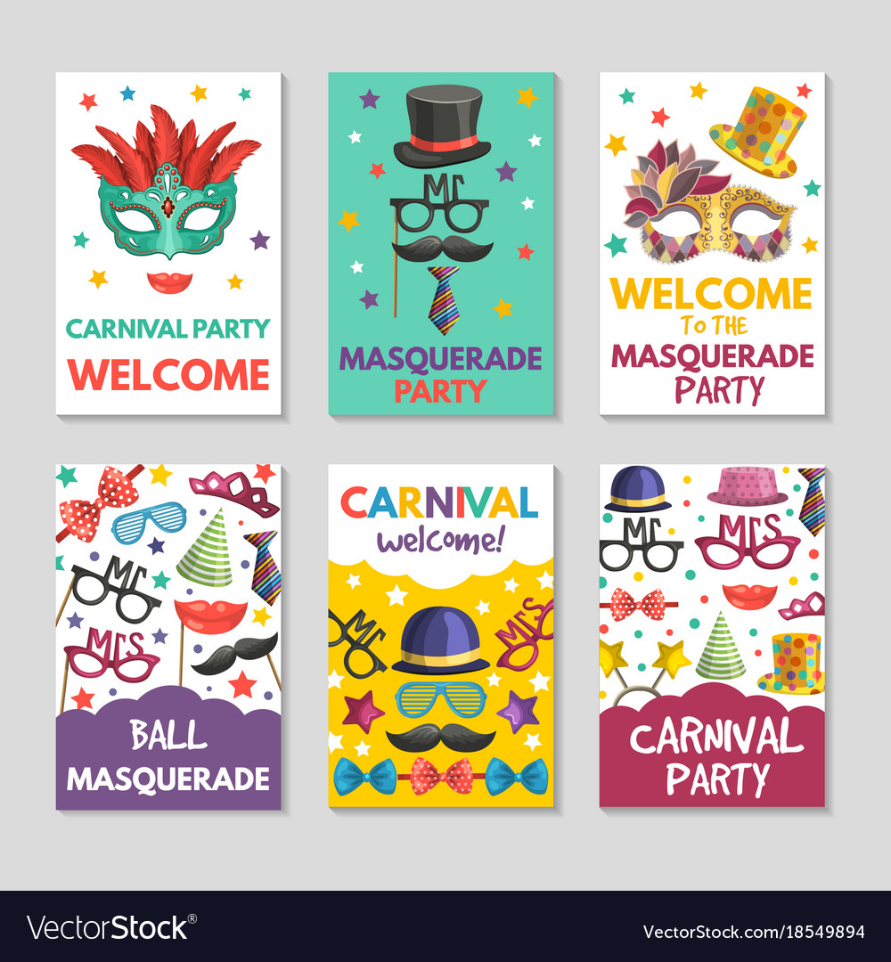 Banners or cards set with of funny