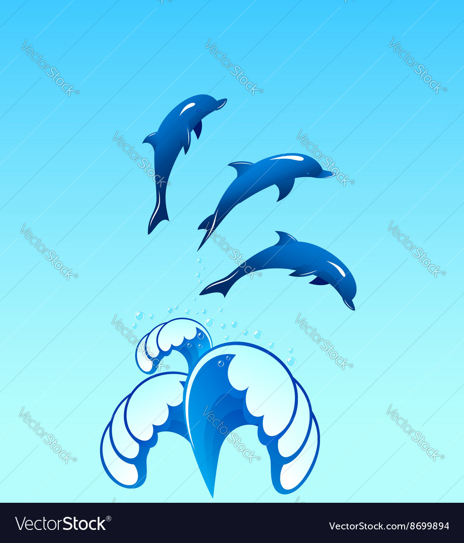 Dolphins 02 vector image