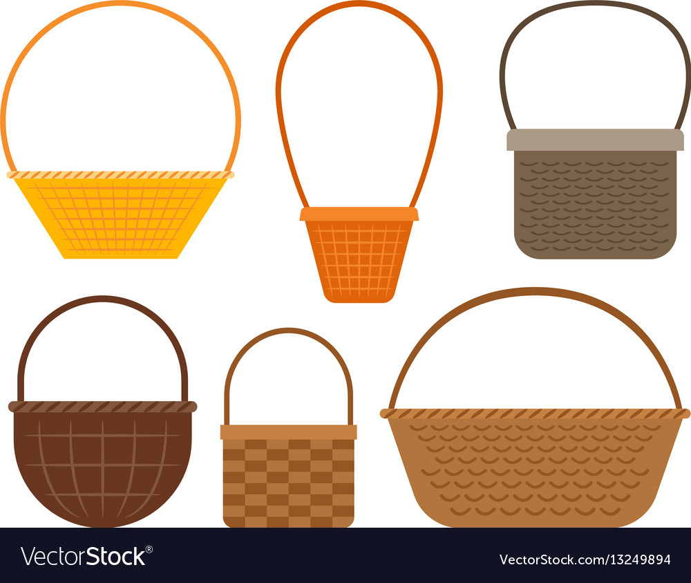 Empty picnic basket set