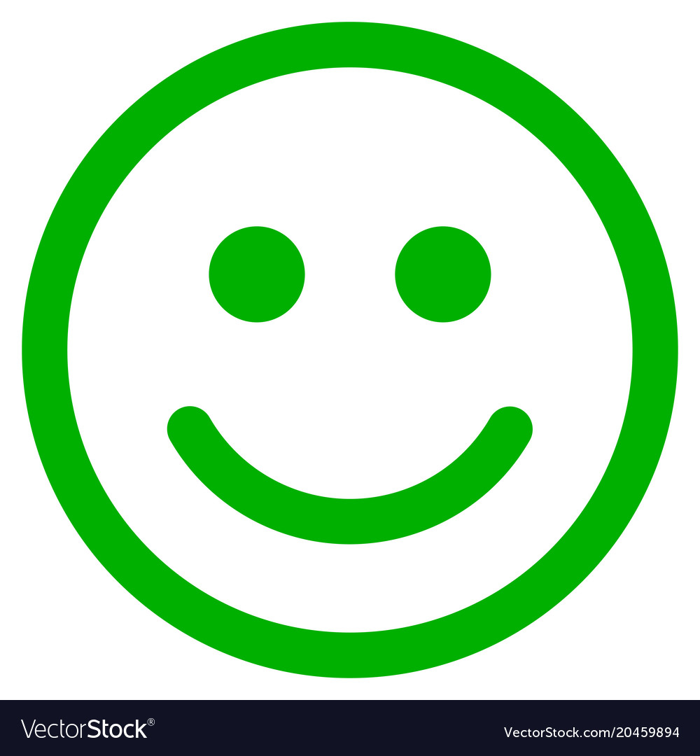Glad Smiley Flat Icon Royalty Free Vector Image