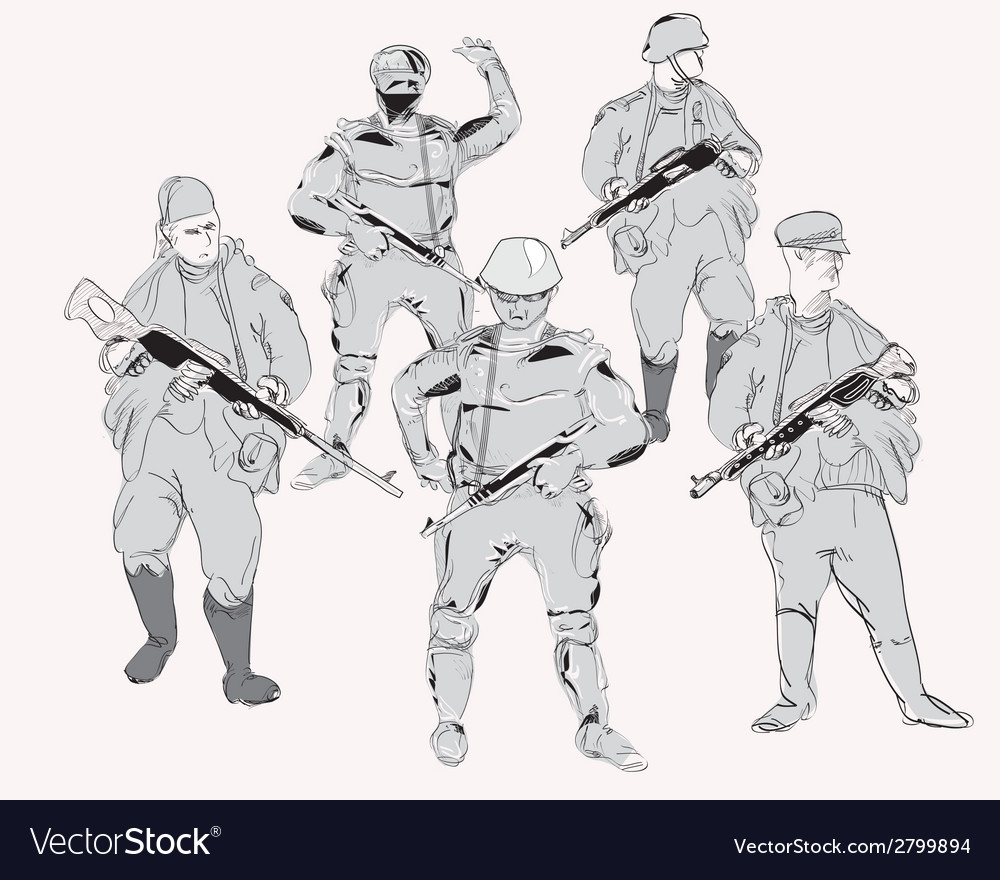 Gunmen vector image
