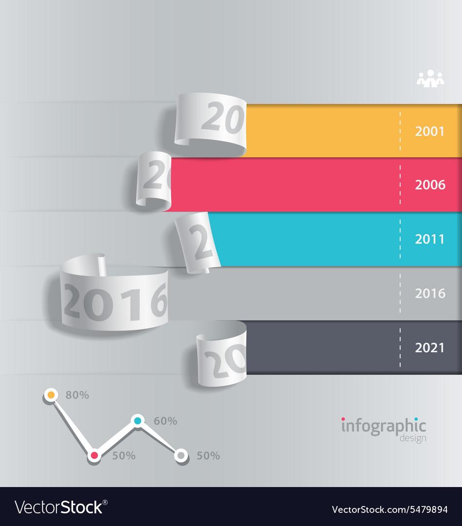 Infographics paper roll design